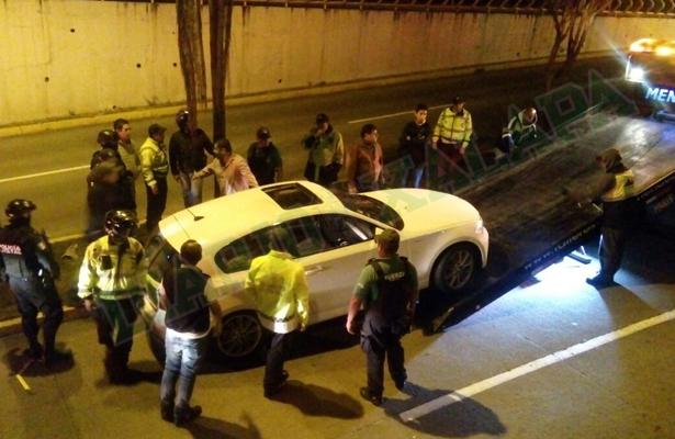 Conductor de BMW intentó escapar de Operativo de Alcoholimetría