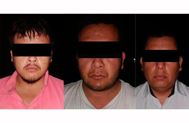 """Detienen a 3 presuntos integrantes del grupo delincuencial """"35 Z"""""""