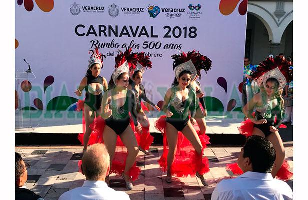 Presentan elenco artístico del Carnaval de Veracruz 2018