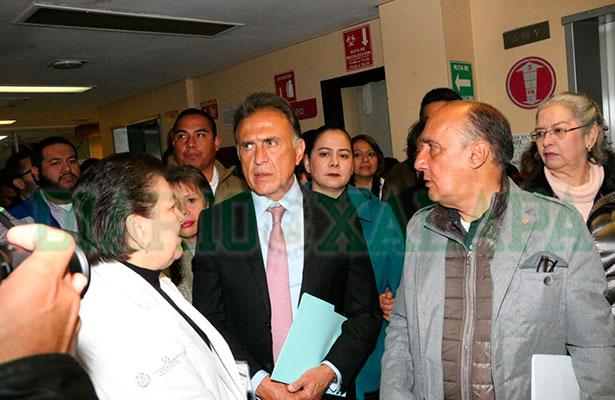 Reconoce el Gobernador que no se cuenta con recursos para otorgar plazas en salud