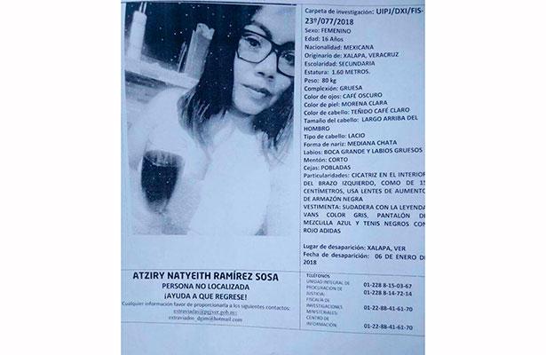 Adolescente xalapeña está desaparecida; familiares piden apoyo para localizarla