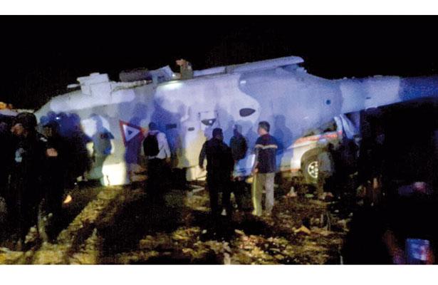 Caída de helicóptero donde viajaba Navarrete Prida deja 13 muertos en Pinotepa