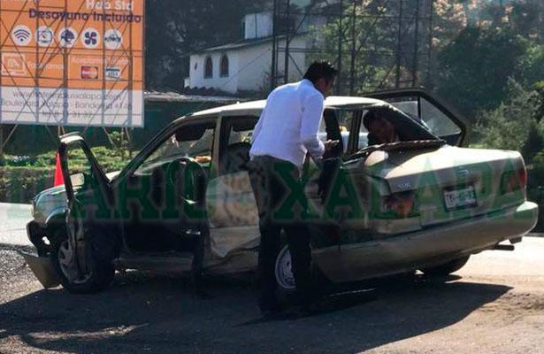 Accidente en la Xalapa-Perote deja un muerto y dos lesionados