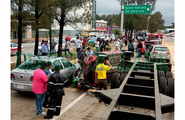 Carambola en la avenida Rafael Cuervo, en Veracruz puerto