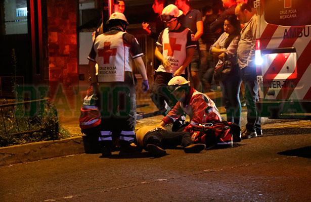 A punto de morir atropellado peatón en Ávila Camacho