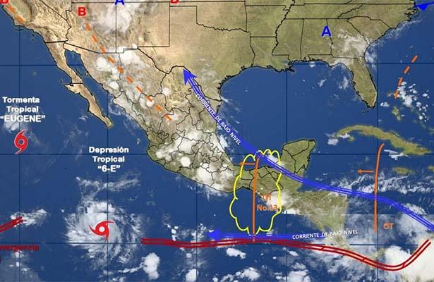Onda tropical 13 generará lluvias en el centro y occidente del país