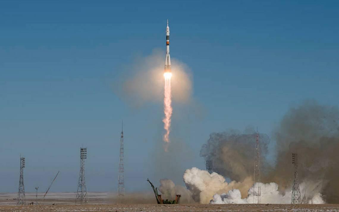 [Video] NASA logra exitoso despegue con tripulación de EU, Rusia y Japón