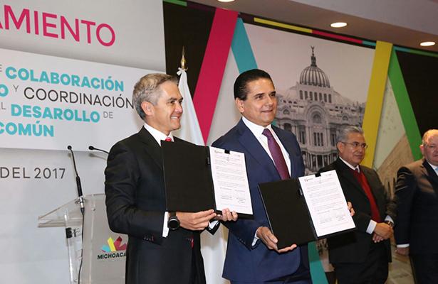Se hermanan Michoacán y la Ciudad de México