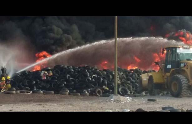 Se incendia el basurón de Culiacán