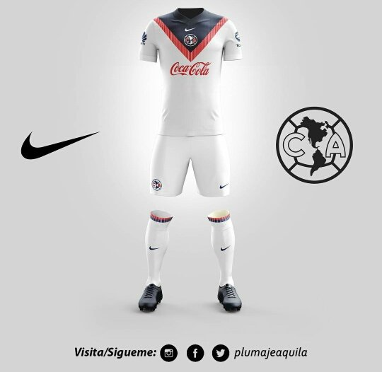 Aficionado dise a uniformes de am rica for Cuarto uniforme del america 2018