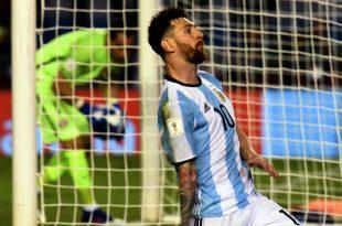 Messi pone a Argentina en la zona de clasificación
