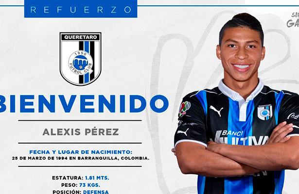 Querétaro ficha al central colombiano, Alexis Pérez