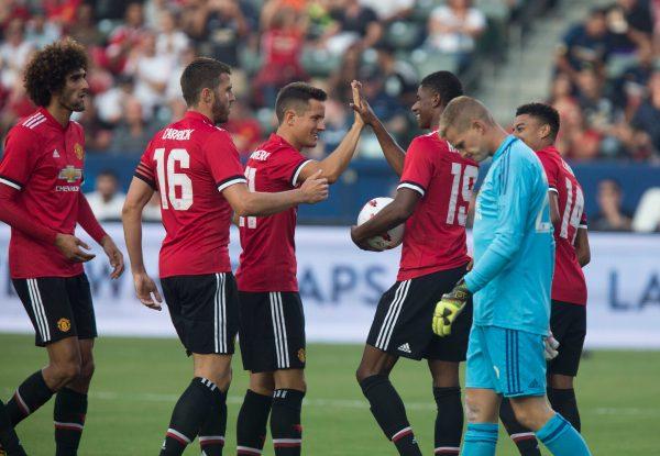 El United golea al Galaxy pese a doblete de Gio