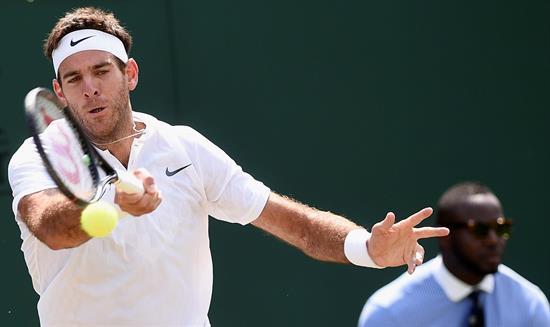 Djokovic y Del Potro avanzan a segunda ronda en Wimbledon