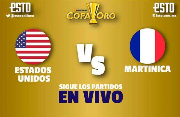 Copa Oro: USA venció a Martinica por el Grupo B