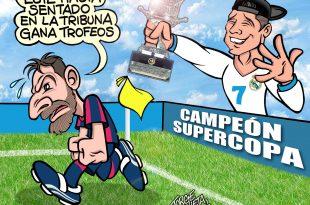 Ronaldo hasta sentado gana trofeos