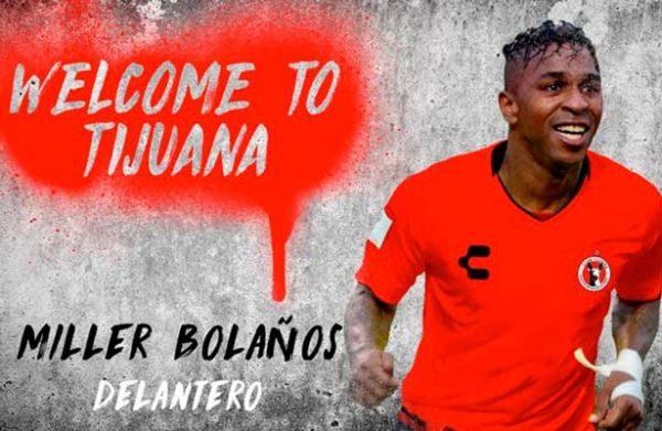 Xolos le da la bienvenida al ecuatoriano Miller Bolaños