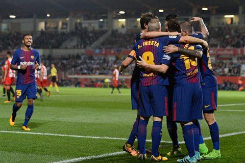 """Barcelona gana al Girona con """"ayuda"""" del rival"""