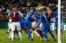 No Chicharo, no party: West Ham empató ante el Leicester
