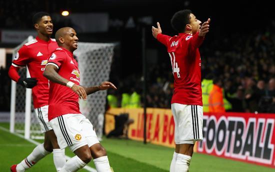 Manchester United vence 4-2 al Watford