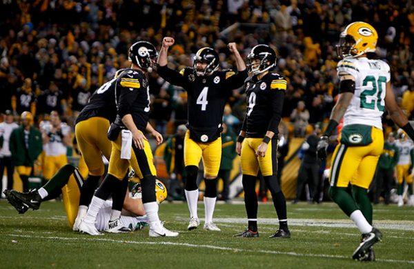 Steelers derrotan con dramático gol de campo a los Packers