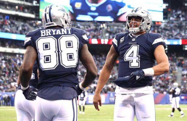 Prescott lanza 3 pases de TD, Cowboys ganan en NY