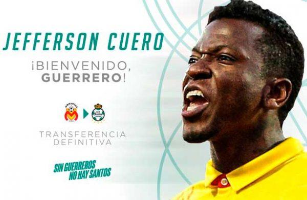Jefferson Cuero, ya es jugador de Santos