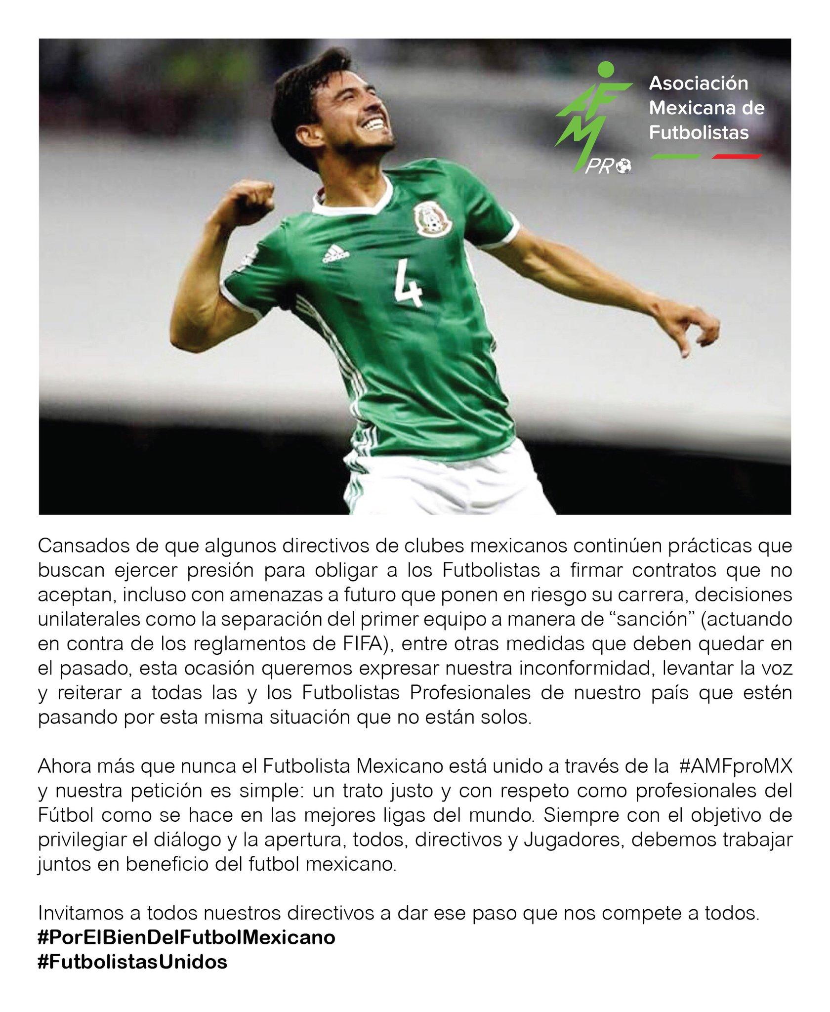 8ed55c091 Asociación Mexicana de Futbolistas da postura en caso Alanís