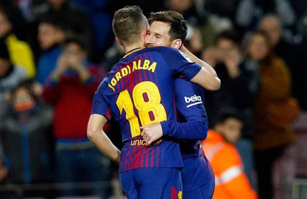 Messi marcó por duplicado en la goleada de Barcelona