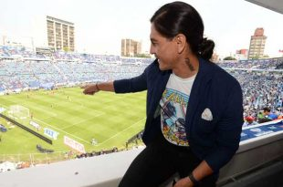 Palencia también estuvo presente en la despedida del Azul