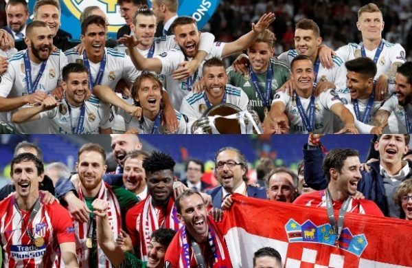 Real Madrid y Atlético de Madrid disputarán la Supercopa de Europa 2018