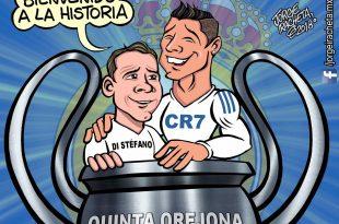 Cristiano Ronaldo empató a Alfredo Di Stéfano