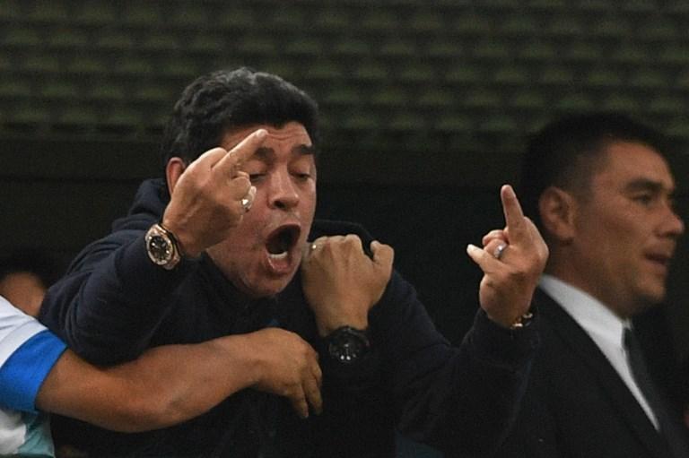 Diego Armando Maradona es captado en deplorable estado de salud