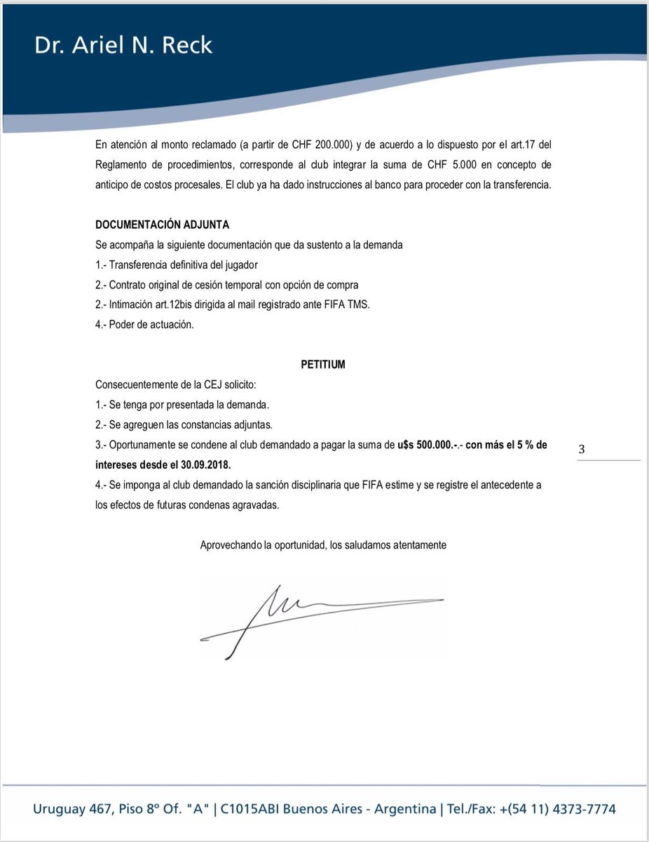 Olimpia demandó a Grupo Pachuca por Walter González