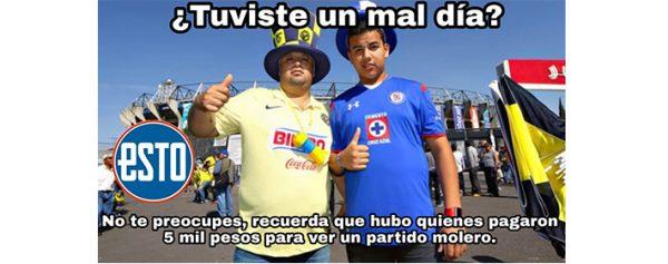 Los Memes de la final de ida entre América vs Cruz Azul