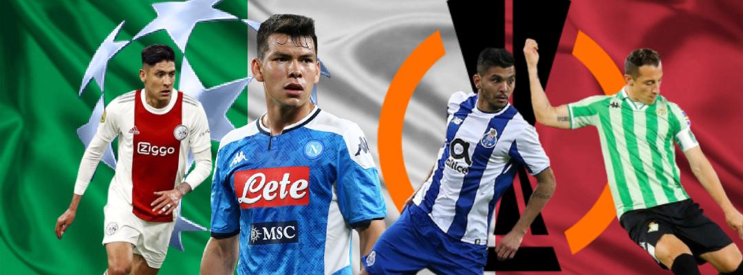 Los mexicanos que buscarán conquistar la Champions y Europa League