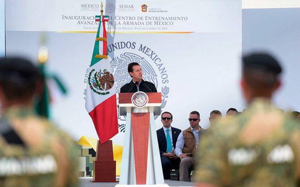 Las Fuerzas Armadas están preparadas para responder ante sismos, asegura Peña Nieto