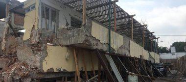 Concluye segunda etapa de demolición en el Colegio Rébsamen