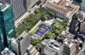 Aficionados del Barcelona realizan mosaico en Manhattan