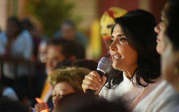 Alejandra Barrales promete impulsar educación y empleo para las mujeres