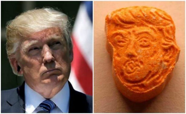 Incautan 5 mil pastillas de éxtasis que tenían el rostro de Donald Trump