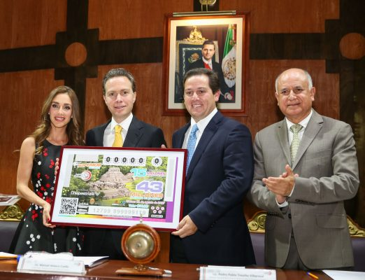 Lotería Nacional reconoce a Palenque por sus 450 años de fundación