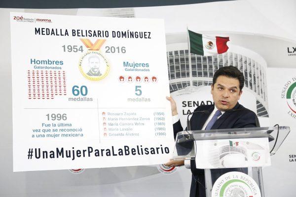 """Propone Zoé premiar a una mujercon la Medalla """"Belisario Domínguez"""""""