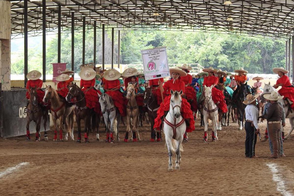 La Escaramuza Charra Tuchtlán fue sede y tuvo a su cargo la organización de la tercera fase del circuito femenil.