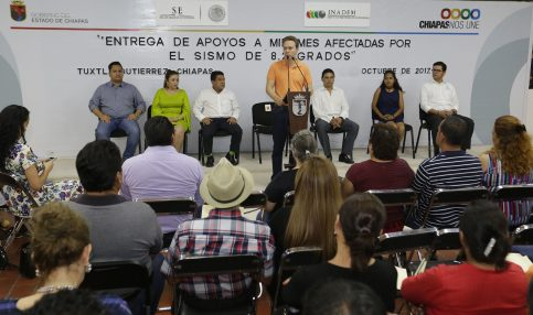 Chiapas y la Federación reactivan a comercios afectados por sismo