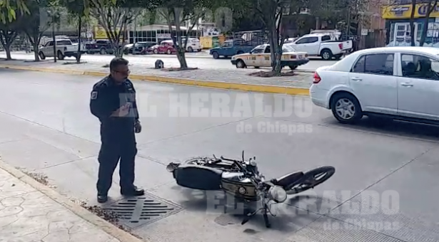 Se accidenta motociclista en el libramiento sur [VIDEO]