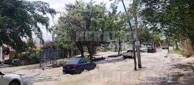 Enorme fuga de agua provoca hundimiento en el bulevar Andrés Serra Rojas [VIDEO]