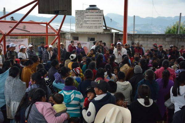 Comuneros se suman a Juntos Haremos Historia en San Cristóbal