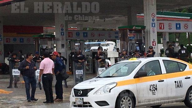 Toma de gasolineras de Tuxtla Gutiérrez por el magisterio