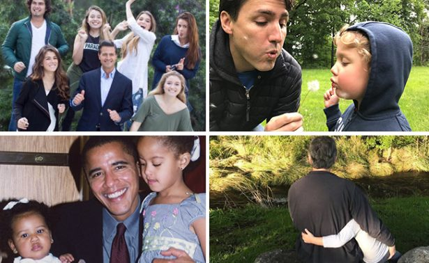 Michelle celebra a Obama este #DíaDelPadre; Melania no se queda atrás con Trump